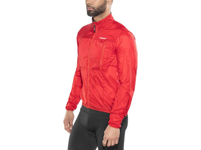 Shimano Hybrid Windbreaker Jacket Men Red